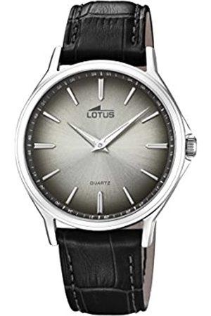 Lotus Lotus Watches Herren Datum klassisch Quarz Uhr mit Leder Armband 18516/4