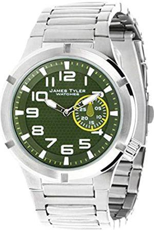 James Tyler James Tyler Herren-Armbanduhr, Quarz-Werk, Edelstahlband gebürstet