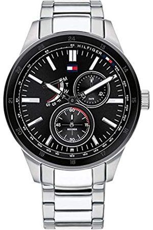 Tommy Hilfiger Tommy Hilfiger Herren Multi Dial Quartz Uhr mit Edelstahl Armband 1791639