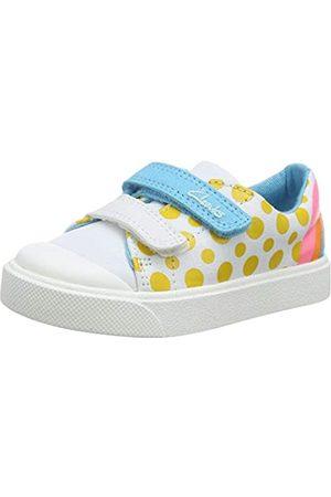 Clarks Clarks Unisex-Kinder City Bright T Sneaker, Weiß (White Combi White Combi)