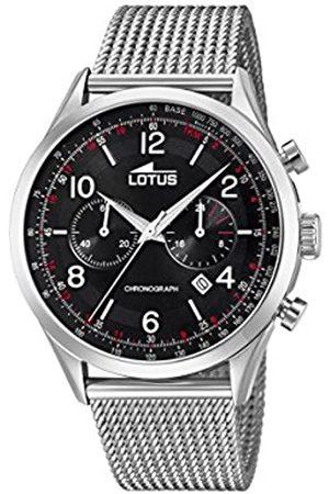 Lotus Lotus Herren Analoger Quarz Uhr mit Edelstahl Armband 18555/2