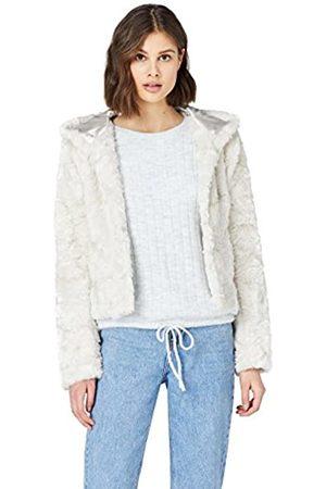 FIND Amazon-Marke: Jacke Damen aus Kunstfell mit Kapuze, 38