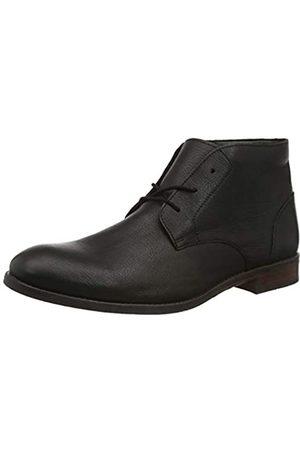 Clarks Clarks Herren Flow Top Chukka Boots, Schwarz (Black Leather Black Leather)