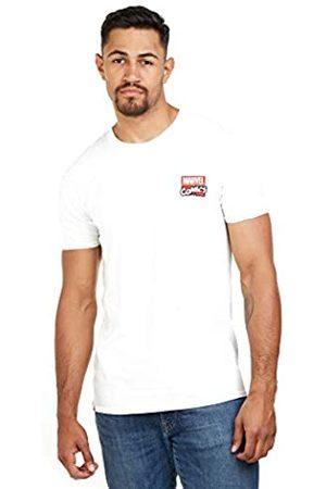 Marvel Marvel Herren Stack Logo-Mens Med T-Shirt