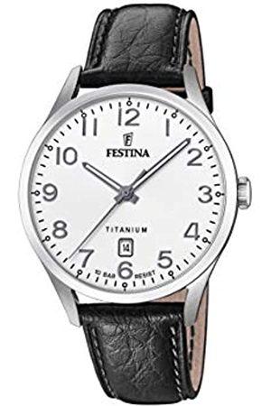Festina Festina Herren Analog Quarz Uhr mit Leder Armband F20467/1