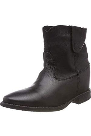 KMB Damen Bolero Cowboystiefel, (Black 1)