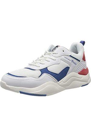 TOM TAILOR Herren 8085101 Sneaker, Mehrfarbig (White Blue Red 02694)