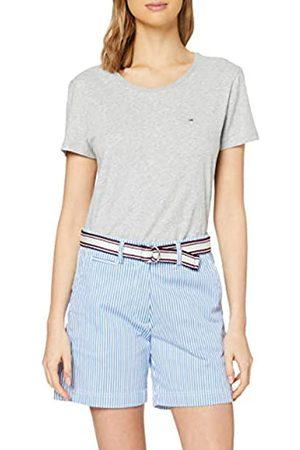 Tommy Hilfiger Tommy Hilfiger Damen Cotton Stretch Striped Bermuda Slim Jeans, Blau (Ithaca STP/Blue-White 0ya)