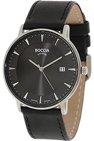 Boccia Boccia Herren Digital Quarz Uhr mit Leder Armband 3607-01