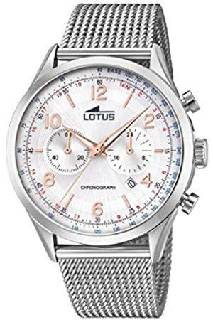 Lotus Lotus Herren Analoger Quarz Uhr mit Edelstahl Armband 18555/1