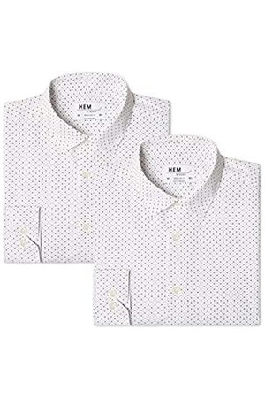 FIND Find. Herren Businesshemd 2 Pack Regular Shirt, 41 cm