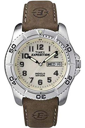 Timex Herren Uhren - Herren-Armbanduhr Analog Leder T46681D7