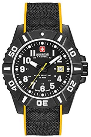 Swiss Military Swiss Military Herren Datum klassisch Quarz Uhr mit Silikon Armband 06-4309.17.007.79SM