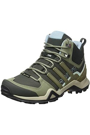 adidas Adidas Womens Terrex Swift R2 Mid GTX Walking Shoe, Legend Earth/Legacy Green/Ash Grey