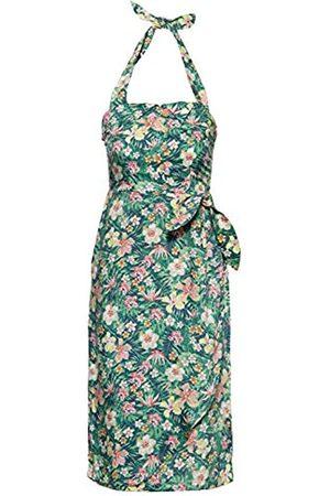 Queen Kerosin Queen Kerosin Damen Sommerkleid Mit Tropischem Muster V Ausschnitt Ohne ärmel Sommerkleid Normal Gemustert