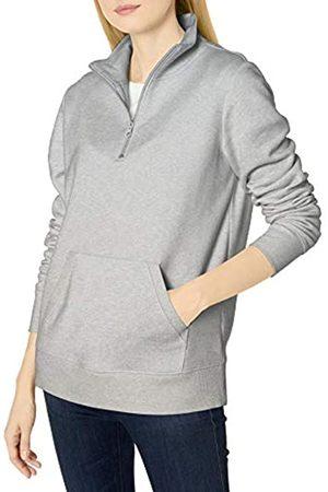Amazon Long-sleeve Lightweight French Terry Fleece Quarter-zip Top fashion-sweatshirts, Hellgrau (Light Grey Heather)