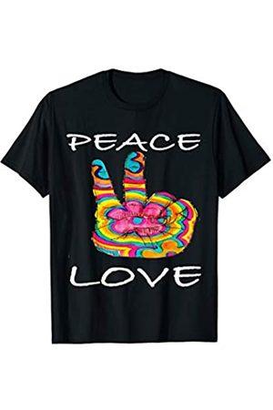 Peace Hippie Geschenke Shirts 60er 70er Jahre Love Peace Love Flower 60er 70er Jahre I Hippie-Kostüm T-Shirt T-Shirt