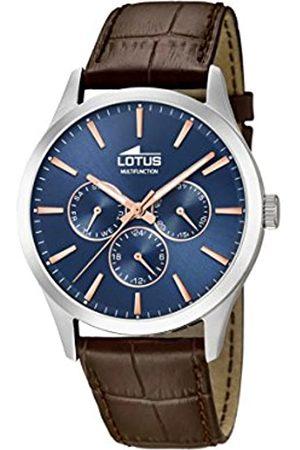 Lotus Lotus Herren Analoger Quarz Uhr mit Echtes Leder Armband 18576/5