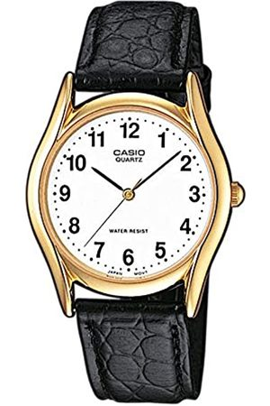 Casio Casio Herren Analog Quarz mit Leder Armbanduhr MTP 1154PQ 7BEF
