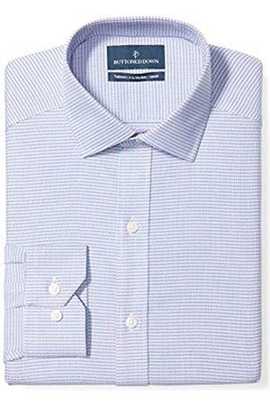 Buttoned Down Tailored Fit Spread-Collar Pattern Non-Iron Dress Shirt Smoking Hemd, pink/blue geo