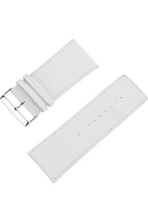 Pure Grey Pure Grey Uhrenarmband Kalbleder Bandbreite 38mm
