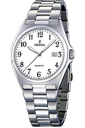 Festina Festina Herren Analog Quarz Uhr mit Edelstahl Armband F16374/1
