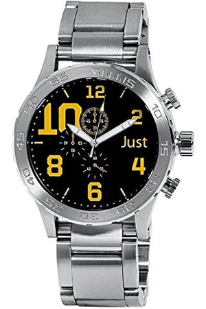 Just Watches Just Watches Herren Analog Quarz Uhr mit Edelstahl Armband 48-S5543BK-YL