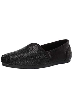 Skechers Skechers Damen Luxe Bobs-Tea Rose Espadrilles, (Black Duraleather/Rhinestone Trim/^ BBK)