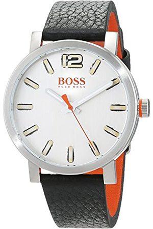 HUGO BOSS Hugo Boss Orange Herren-Armbanduhr Quarz mit Leder Armband 1550035