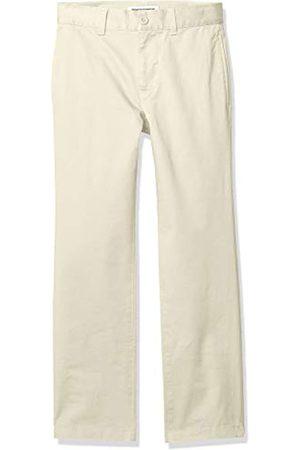 Amazon Essentials Jungen Uniform Straight-Fit Flat-Front Chino Khaki Pants, Light Khaki