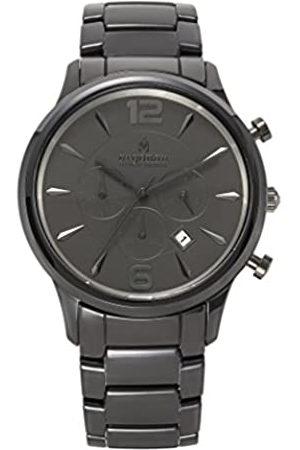 ARGONAU Argonau Unisex Erwachsene Analog Quarz Uhr mit Keramik Armband AU1004