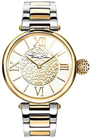 THOMAS SABO Unisex Erwachsene Analog Quarz Uhr mit Edelstahl Armband WA0299-291-202-38 mm
