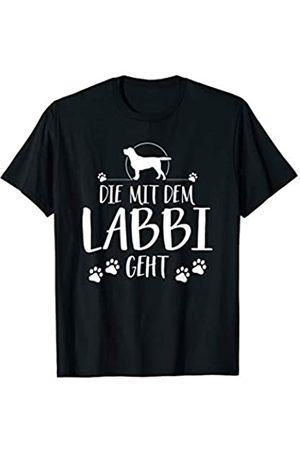 Wilsigns Labrador Die mit dem Labbi geht Labrador Mama lustiges Hundespruch T-Shirt