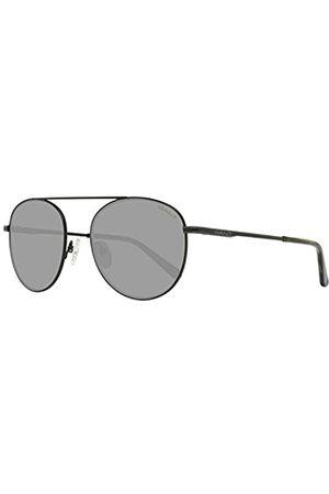 GANT GANT Herren GA7106 Sonnenbrille, Schwarz (Matte Black/Green)