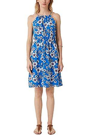 s.Oliver S.Oliver RED LABEL Damen Off Shoulder-Kleid aus Chiffon cobalt AOP 36