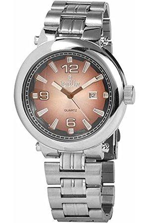 Sportline Sportline Herren Analog Quarz Uhr mit Verschiedene Materialien Armband 281527000004