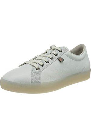 softinos Softinos Damen SURY585SOF Sneaker, Mehrfarbig (White/Light Grey Snake 003)