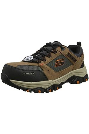 Skechers Skechers Men's GREETAH Trainers, Brown (Brown Suede Leather W/Textile Br Bk)