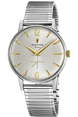 Festina Festina Herren Analog Quarz Uhr mit Edelstahl Armband F20250/2