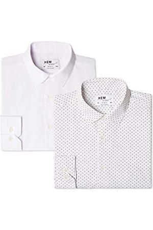 FIND Find. Herren Businesshemd 2 Pack Slim Shirt, 38 cm