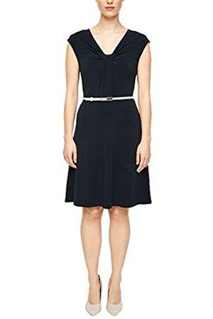 s.Oliver S.Oliver BLACK LABEL Damen Jerseykleid mit drapiertem Ausschnitt 36