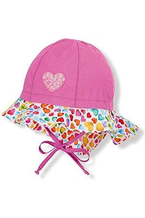 Sterntaler Flapper für Mädchen mit Bindebändern, Nackenschutz und Herz-Motiven, Alter: 9-12 Monate
