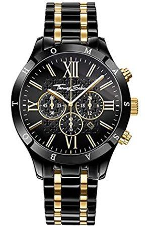 Thomas Sabo Thomas Sabo Herren Armbanduhr Chronograph Quarz Edelstahl WA0264-278-203-43 mm