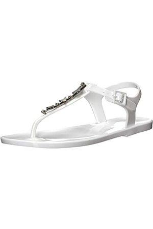Armani Damen Star Rubber Sandal Zehentrenner, (White 00001)