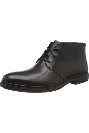 Clarks Clarks Herren Un Tailor Mid Chukka Boots, Schwarz (Black Leather Black Leather)