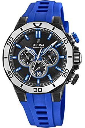 Festina Festina Unisex Erwachsene Chronograph Quarz Uhr mit Silikon Armband F20450/5
