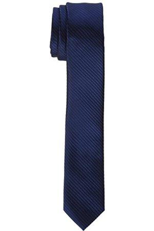 James Tyler James Tyler schmal, handgefertigt Krawatte, Blau Gestreift)