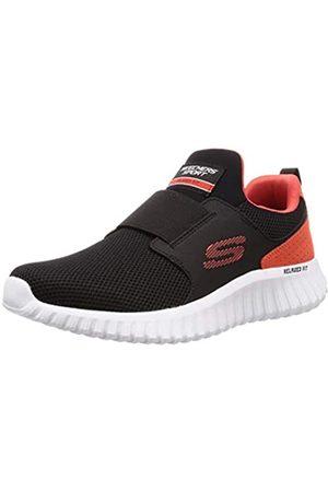 Skechers Skechers Herren Depth Charge 2.0 Slip On Sneaker, Schwarz (Black Mesh/Pu/Orange Trim BKOR)