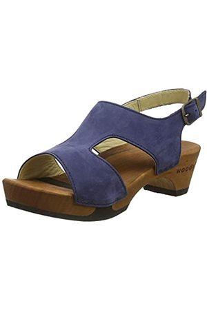 Woody Woody Damen Lucia Pantoletten, Blau (Abisso 032)