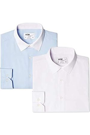 FIND Find. Herren Businesshemd 2 Pack Slim Shirt, 45 cm